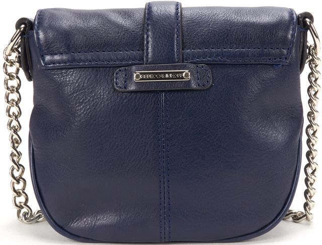REBECCA MINKOFF Navy Blue Leather Small Crossbody Bag