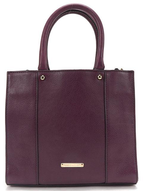 REBECCA MINKOFF Purple Leather Mini MAB Tote Crossbody Bag