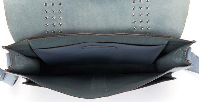 REBECCA MINKOFF Blue Studded Leather Satchel Crossbody Bag