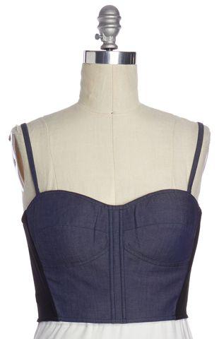 REBECCA MINKOFF Blue Corset Top Size 10