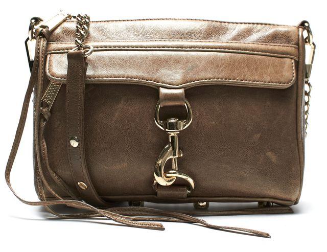 REBECCA MINKOFF Brown Leather Crossbody Shoulder Bag
