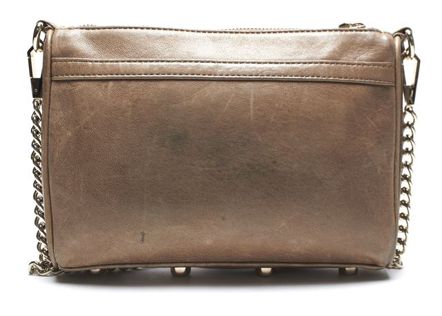 REBECCA MINKOFF Authentic Brown Leather Crossbody Shoulder Bag