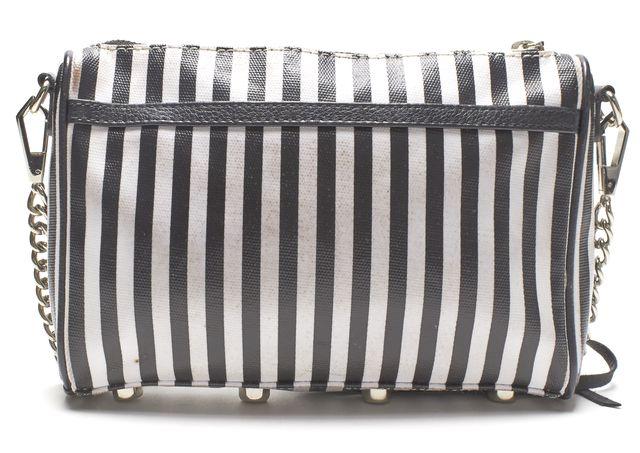 REBECCA MINKOFF Authentic Black White Coated Canvas Mini MAC Crossbody Bag