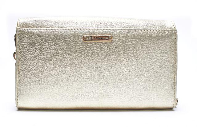 REBECCA MINKOFF Authentic Gold Metallic Leather Crossbody Wallet