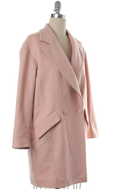 REBECCA MINKOFF Pastel Pink Double Breasted Coat
