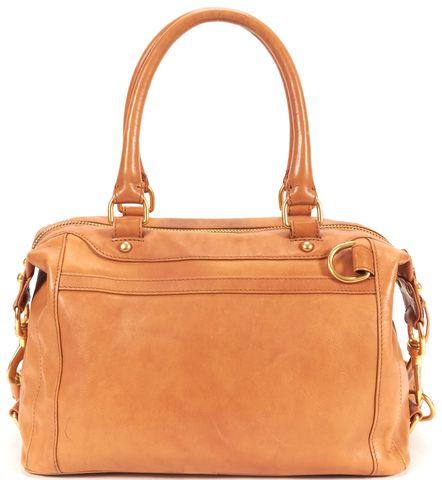 REBECCA MINKOFF Tan Brown Leather Satchel Bag