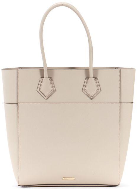 REBECCA MINKOFF Taupe Saffiano Leather Tote Bag