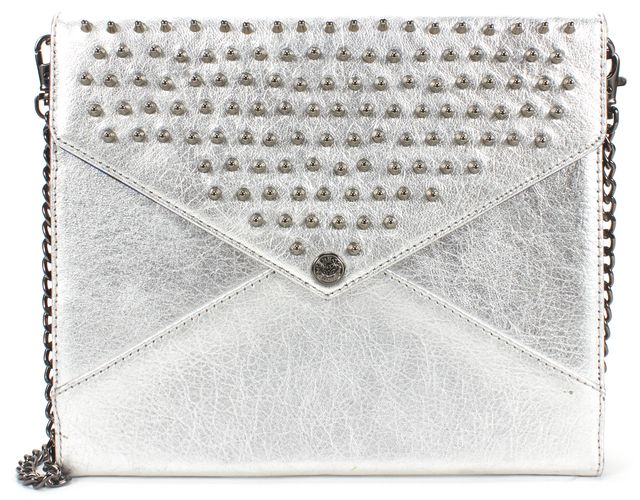 REBECCA MINKOFF Sliver Metallic Leather iPad Case with Chain