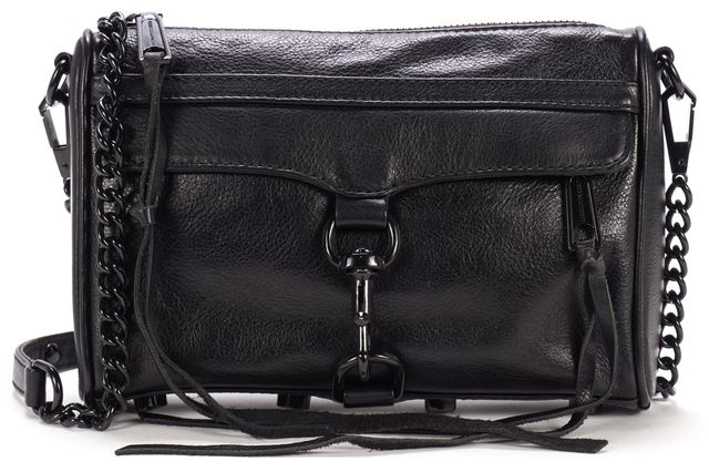 REBECCA MINKOFF Black Leather Crossbody