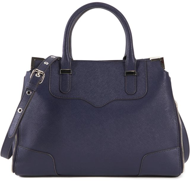 REBECCA MINKOFF Navy Blue Amorous Satchel With Strap