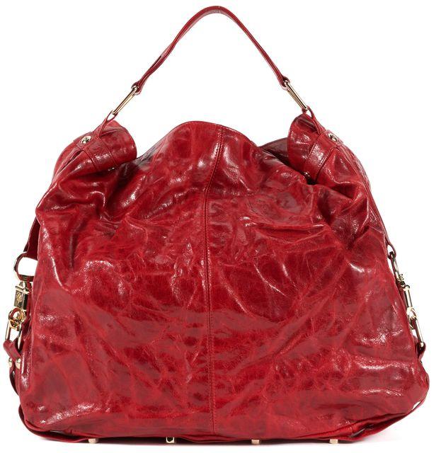 REBECCA MINKOFF Red Leather Hobo Shoulder Bag