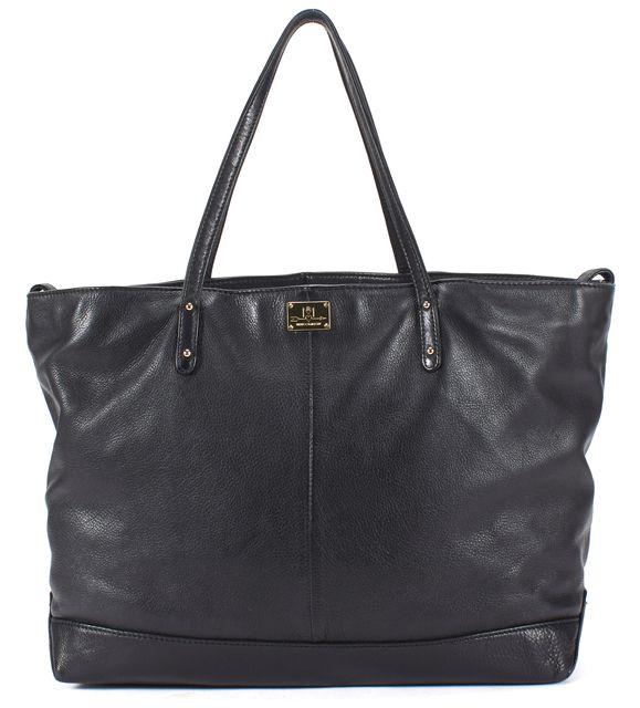 REBECCA MINKOFF Black Pebbled Grain Leather Large Shoulder Bag Tote