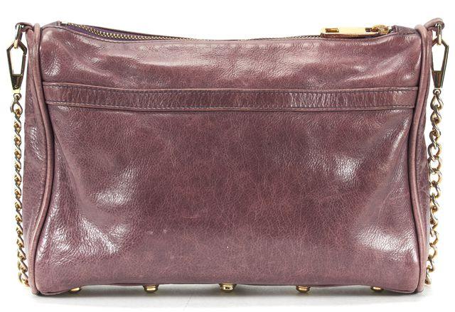 REBECCA MINKOFF Purple Leather Gold Chain Strap Crossbody