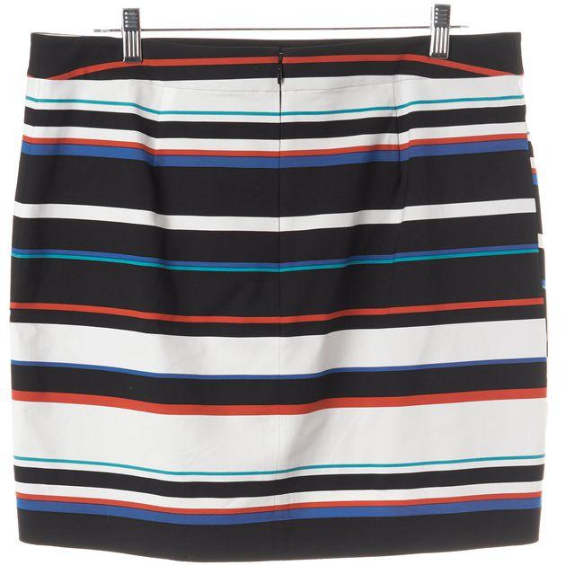 REBECCA MINKOFF Black Blue Red Striped Mini Skirt