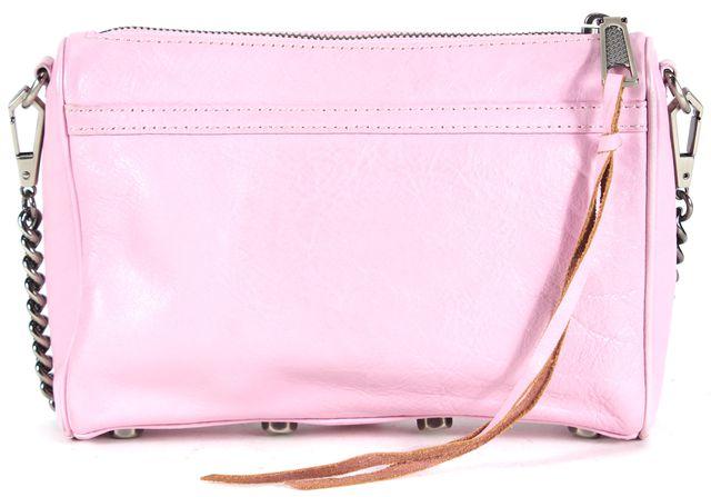 REBECCA MINKOFF Iris Pink Leather Chain Strap Mini MAC Crossbody