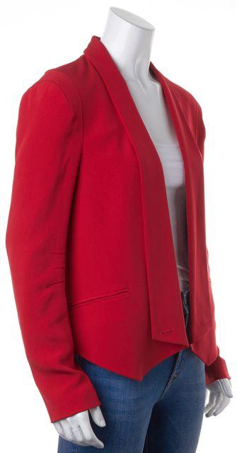 REBECCA MINKOFF Red 100% Silk One Button Casual Blazer