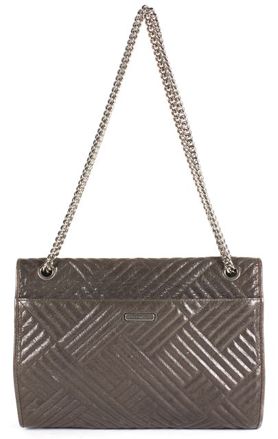 REBECCA MINKOFF Smoke Gray Quilted Leather Large Affair Crossbody Bag
