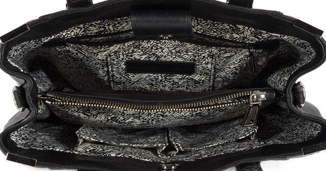 REBECCA MINKOFF Black Leather Top Handle Bags
