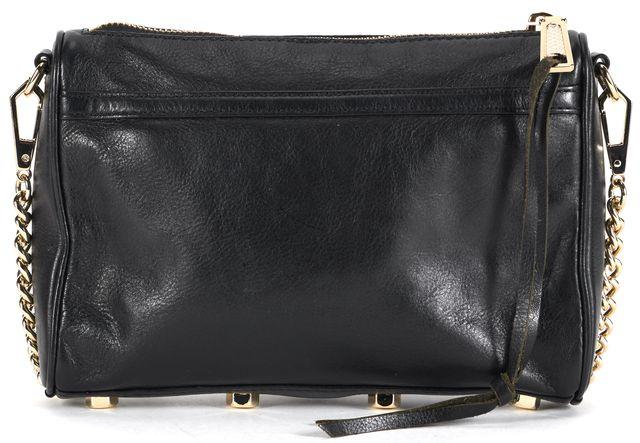 REBECCA MINKOFF Black Leather Chain Strap M.A.C. Mini Crossbody