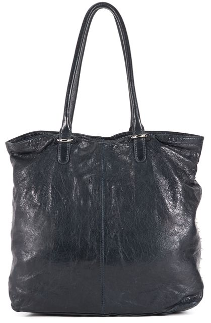 REBECCA MINKOFF Deep Navy Blue Studded Leather Lovers Tote