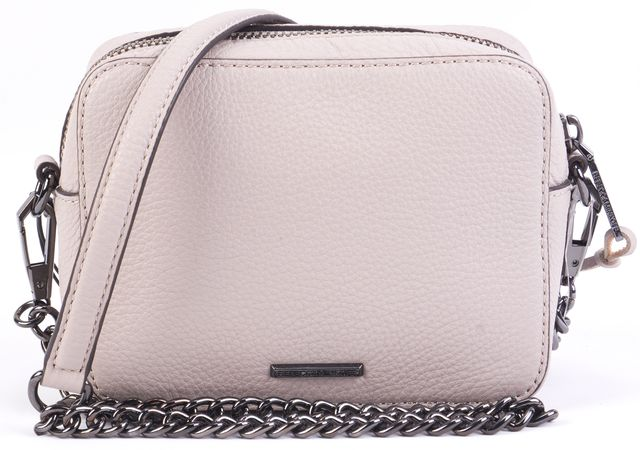 REBECCA MINKOFF Putty Leather Chain Crossbody Handbag