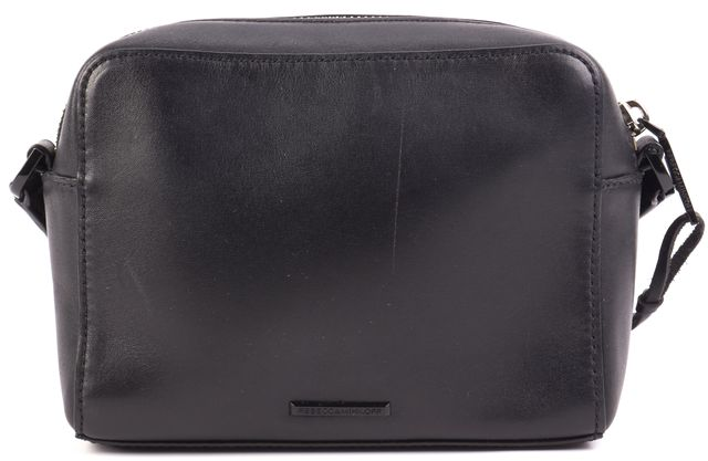 REBECCA MINKOFF Black Leather Mini Sofia Tassled Crossbody Handbag