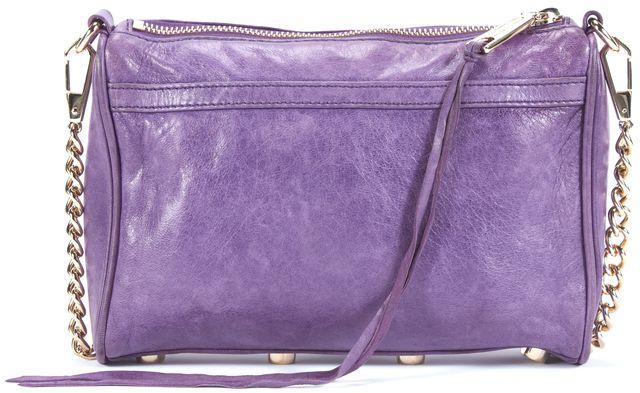 REBECCA MINKOFF Purple 'Mini M.A.C.' Gold Hardware Crossbody
