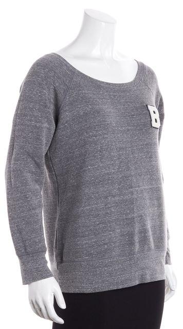 REBECCA MINKOFF Gray Athletic Knit Top Sweatshirt