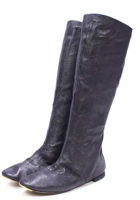 REPETTO Black Leather Knee High Boots