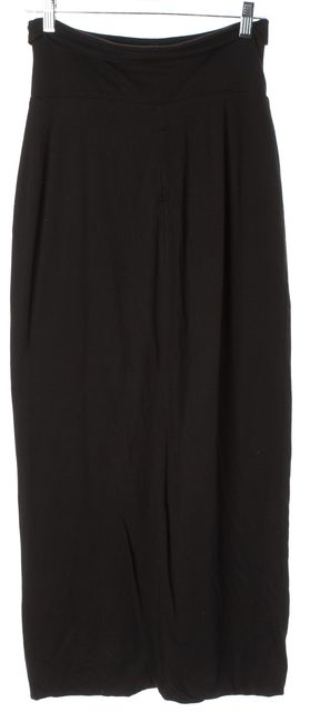 RAQUEL ALLEGRA Black Jersey Fitted Long Maxi Skirt