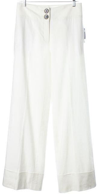 ROBERT RODRIGUEZ White Linen Trousers Pants