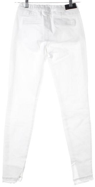 RTA White Stretch Cotton Denim Sonia Leggings Jeans