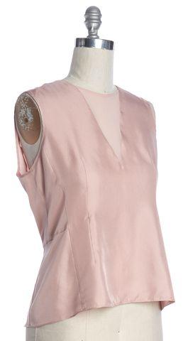 REBECCA TAYLOR Pink Silk Sleeveless Blouse