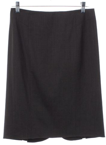 REBECCA TAYLOR Taupe Gray Wool Pleated Straight Skirt
