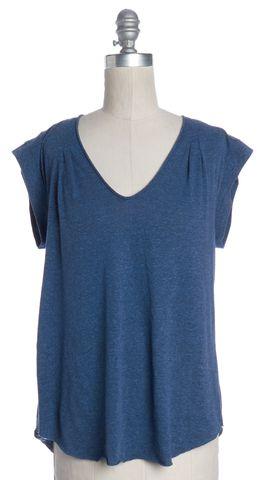 REBECCA TAYLOR Blue Tie Back T-Shirt
