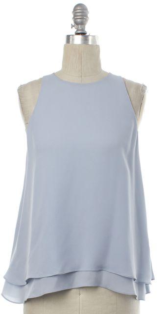 REBECCA TAYLOR Light Blue Silk Layered Top
