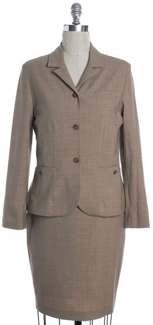 REBECCA TAYLOR Beige Skirt Suit Set