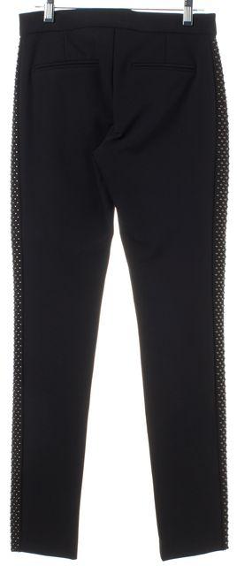 REBECCA TAYLOR Black Side Beads Embellished Casual Pants