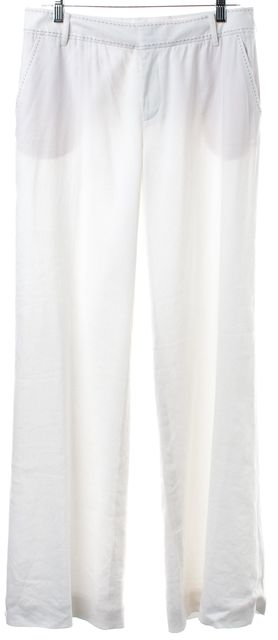 REBECCA TAYLOR White Wide Leg Casual Pants