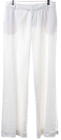 REBECCA TAYLOR White Wide Leg Casual Pants