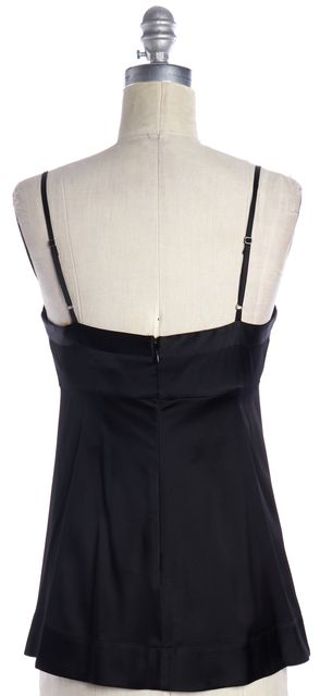 REBECCA TAYLOR Black Silk Slip Top