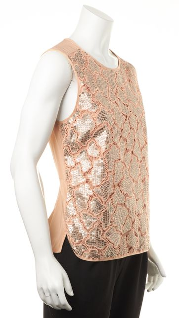REBECCA TAYLOR Pink Sequin Blouse