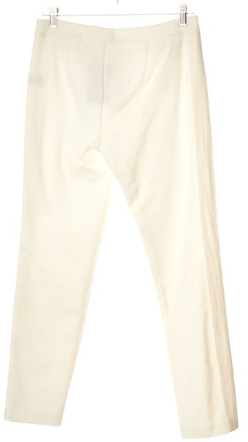 REBECCA TAYLOR White Casual Zipped Pocket Stretch Pants