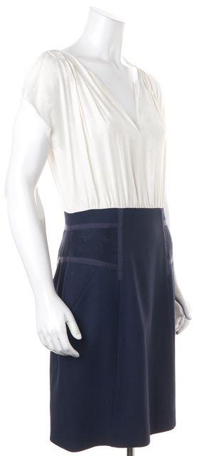 REBECCA TAYLOR Blue White Floral Sheath Dress