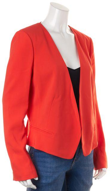 REBECCA TAYLOR Orange Open Blazer Jacket