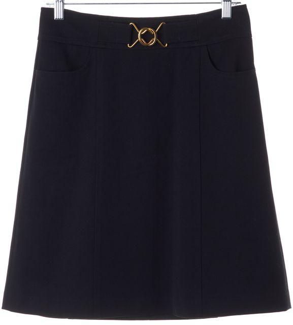 REBECCA TAYLOR Black Straight Skirt