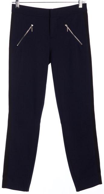 REBECCA TAYLOR Blue Capri Trousers Pants