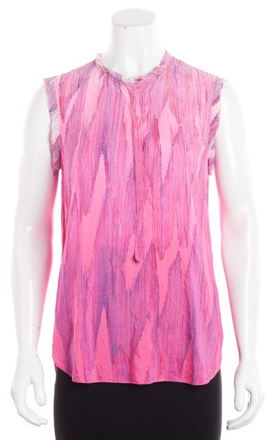 REBECCA TAYLOR Hot Pink Ombre Silk Tank Blouse