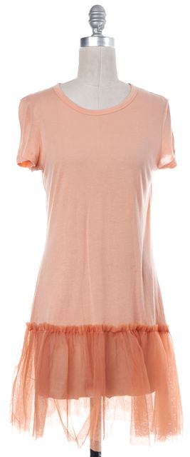 RED VALENTINO Coral Pink Fit Flare Dress