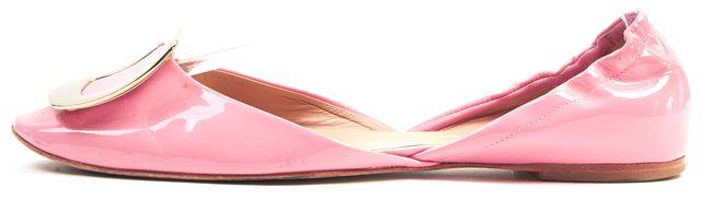 ROGER VIVIER Pink Patent Leather Ballerine Chips d'Orsay Flats